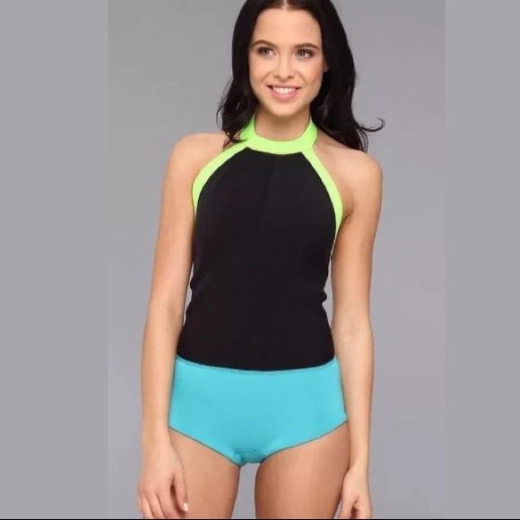 8f713cf9f6 ROXY Hybrid Shorty neoprene Wetsuit Swimsuit Sz m